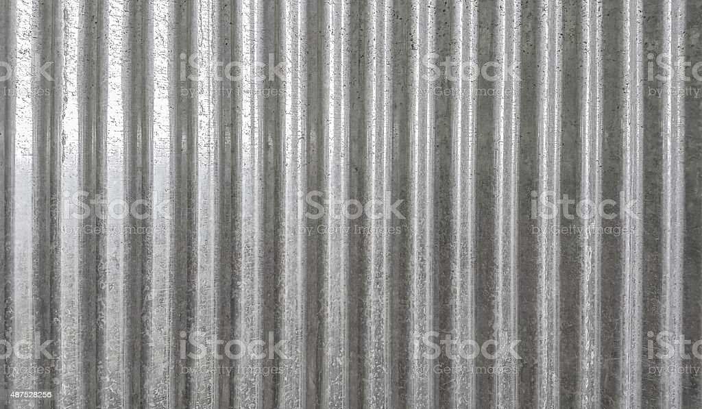 Corrugated metal texture surface background stock photo