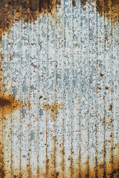 Corrugated metal - vertical stock photo