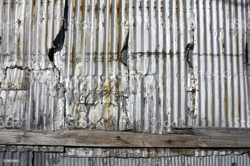 Corrugated Metal Wall Background royalty-free stock photo