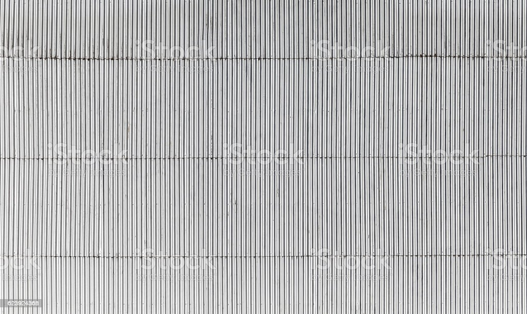Corrugated metal wall flat texture stock photo