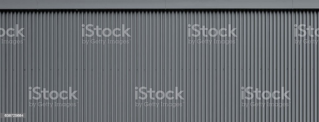 Corrugated metal wall texture stock photo