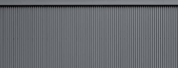 corrugated wand textur metall - alu zaun stock-fotos und bilder