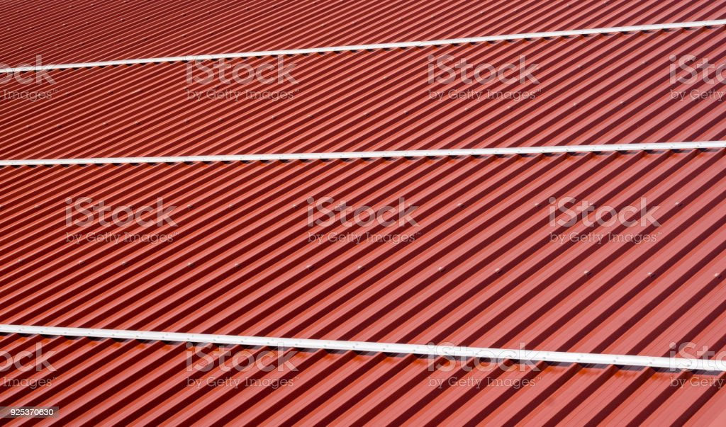 Corrugated Roof Metal Sheets Modern Types Of Roofing Materials Stock
