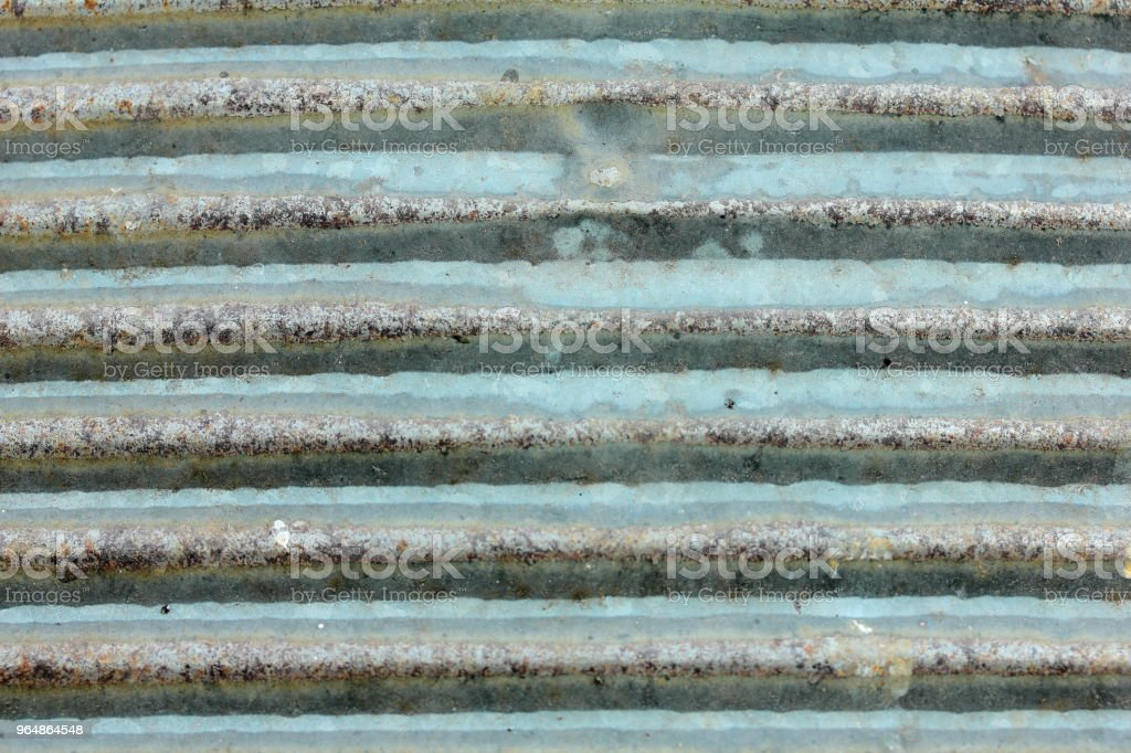 corrugated rusty galvanized sheet royalty-free stock photo