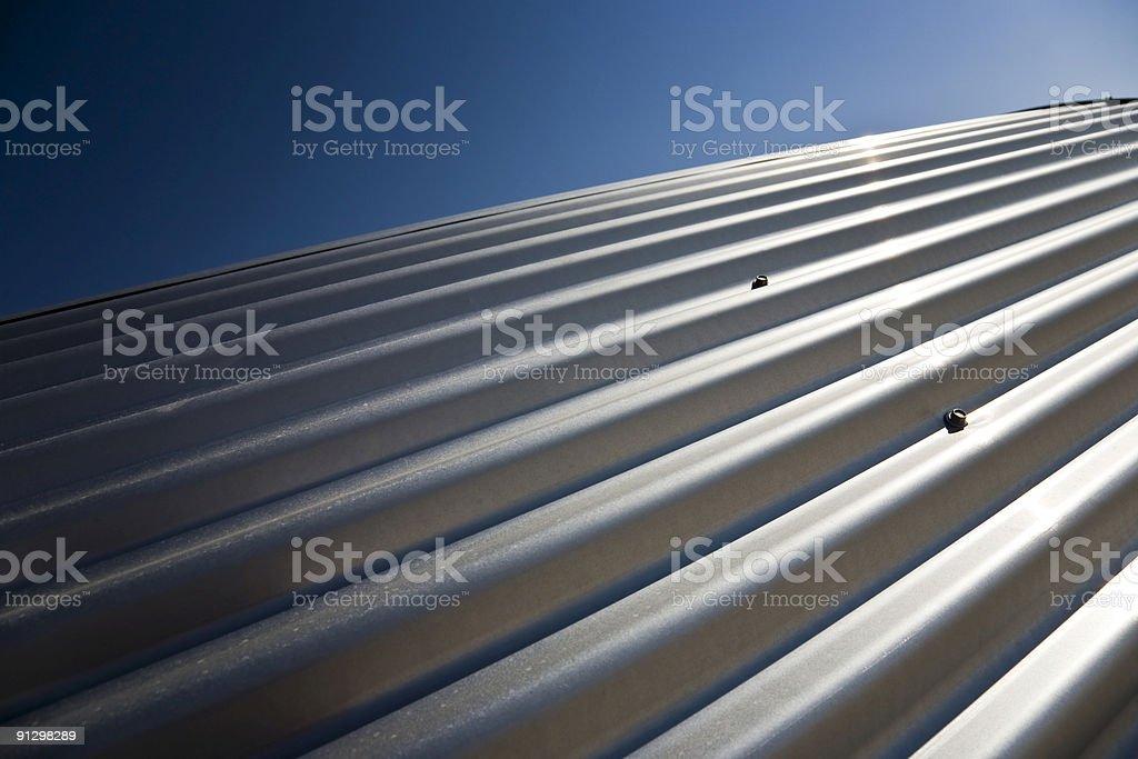 Corrugated sheet iron royalty-free stock photo
