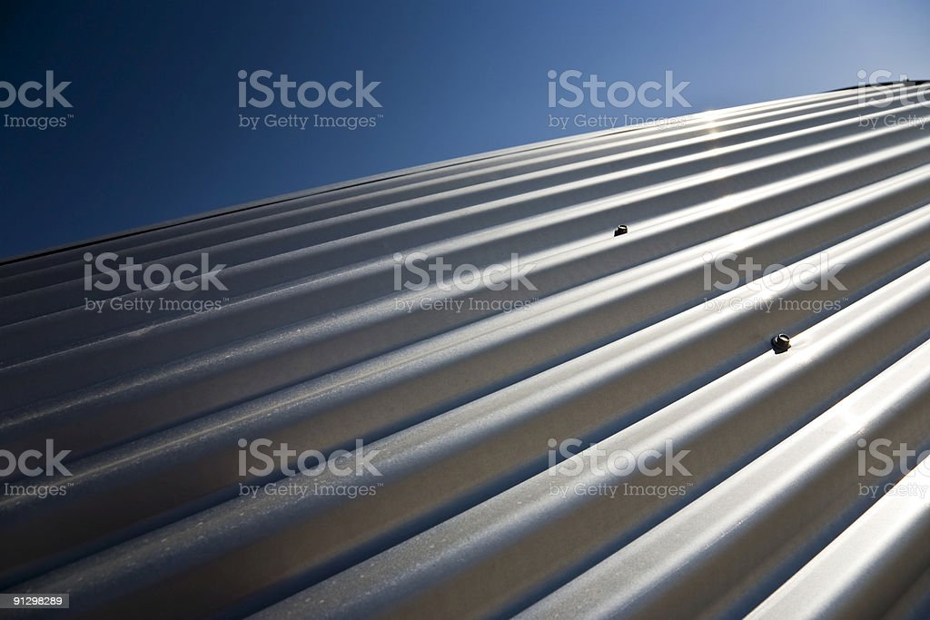 Corrugated sheet iron stock photo