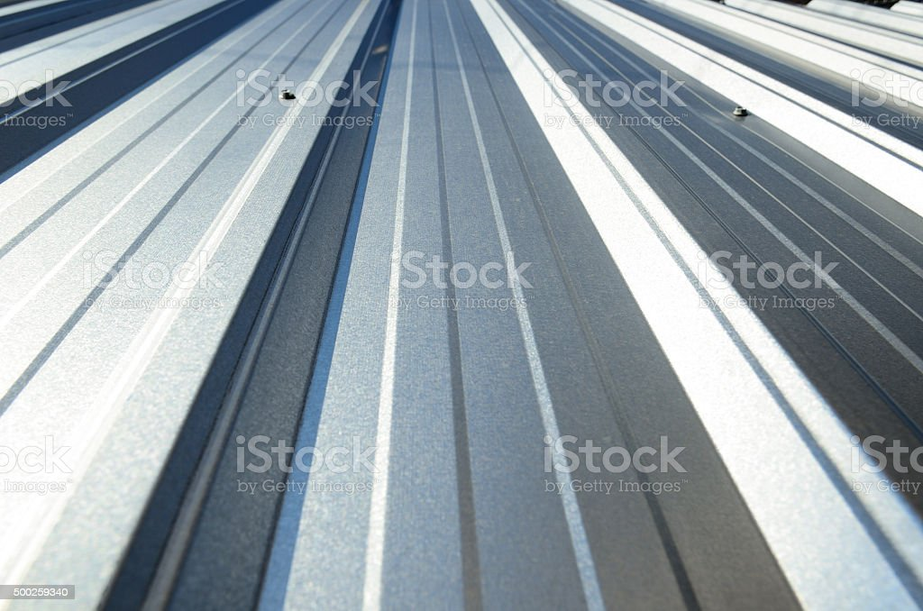 Corrugated sheet perspective and geometry stock photo