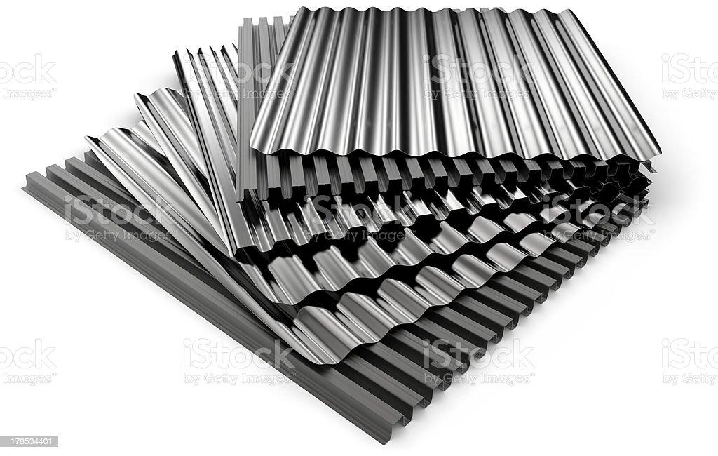 Corrugated sheets royalty-free stock photo