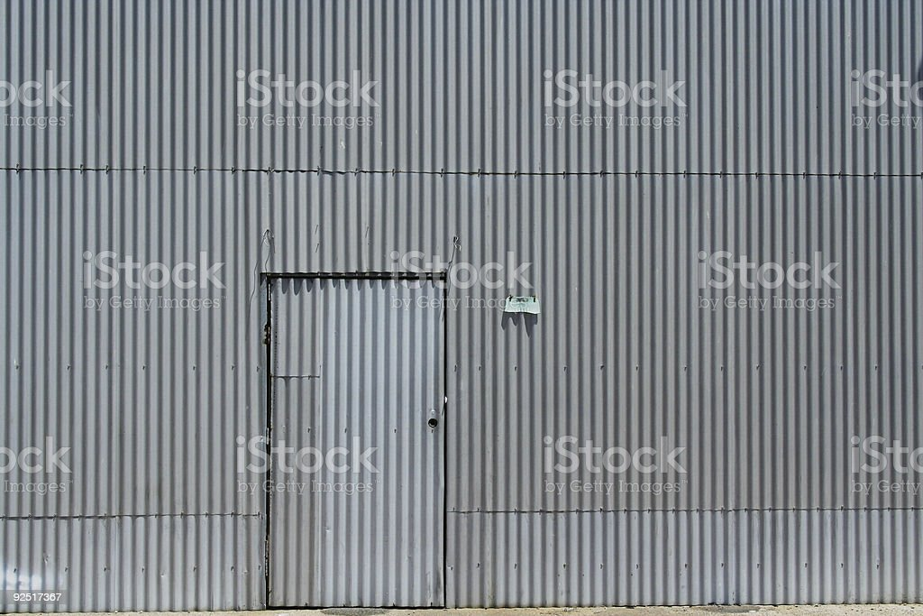 corrugated siding stock photo