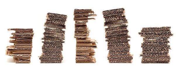 corrugated cardboard (xxxl) geschlossene - box falten stock-fotos und bilder