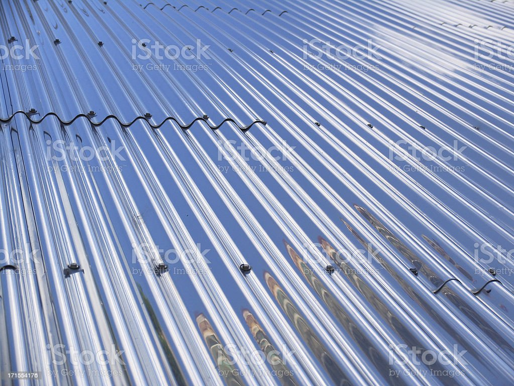 Corrugated Stainless Steel Background royalty-free stock photo