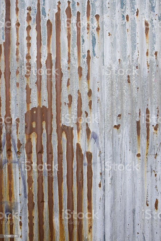 Corrugated steel royalty-free stock photo