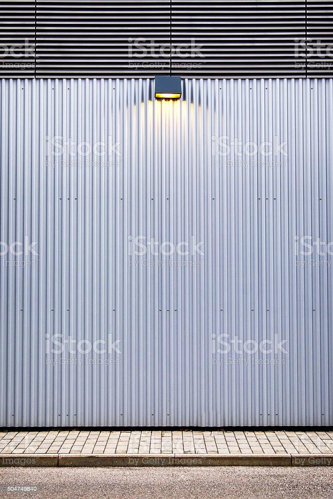corrugated steel stock photo