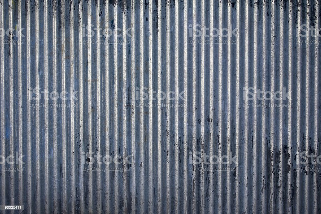 Corrugated steel texture stock photo