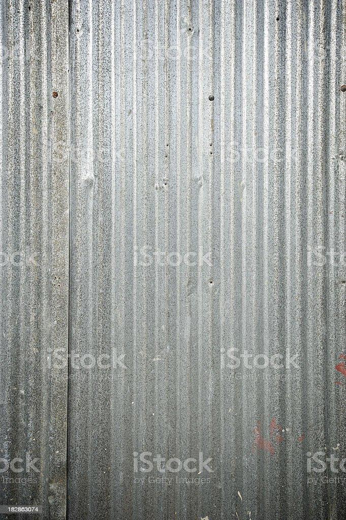 Corrugated Tin Background Full Frame royalty-free stock photo