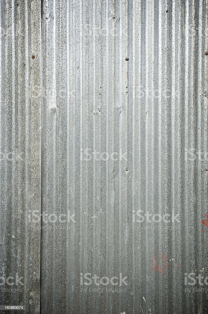 Corrugated Tin Background Full Frame stock photo
