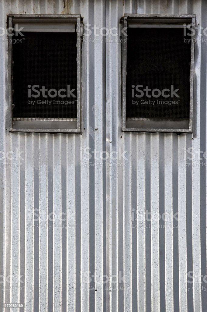 Corrugated Wall Windows royalty-free stock photo