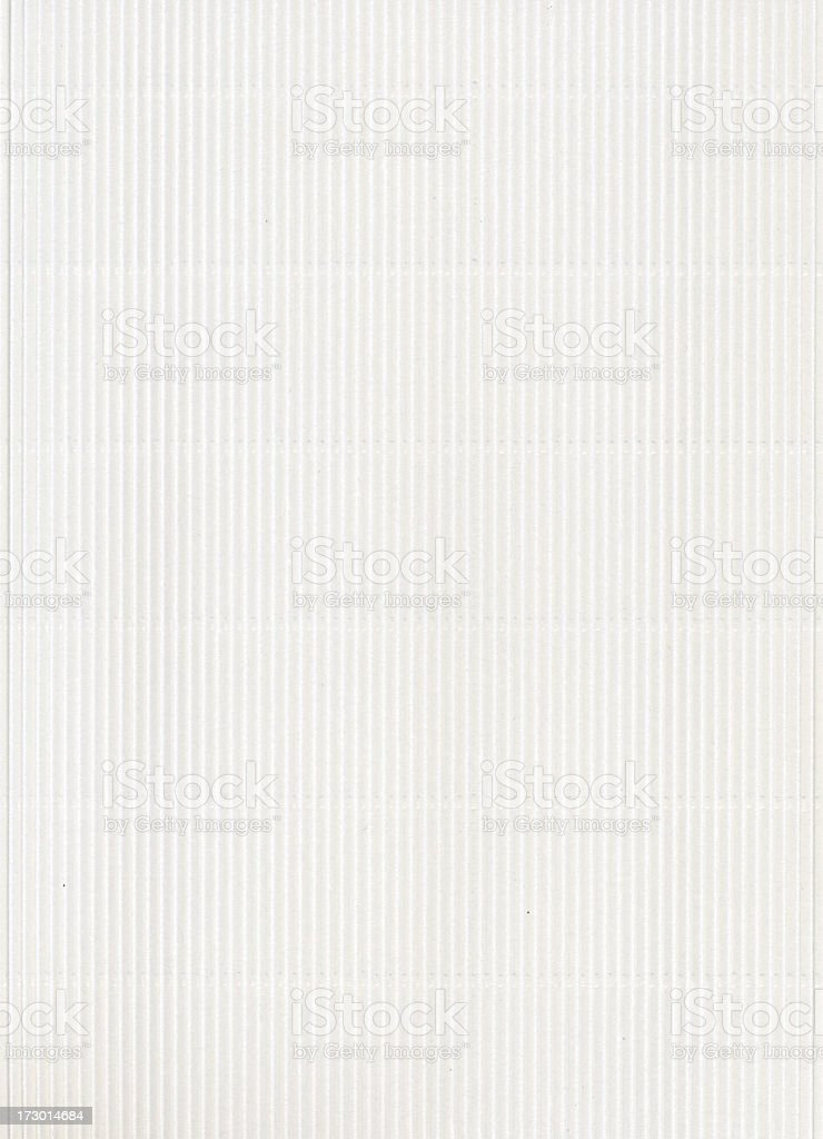 Corrugated white cardboard royalty-free stock photo