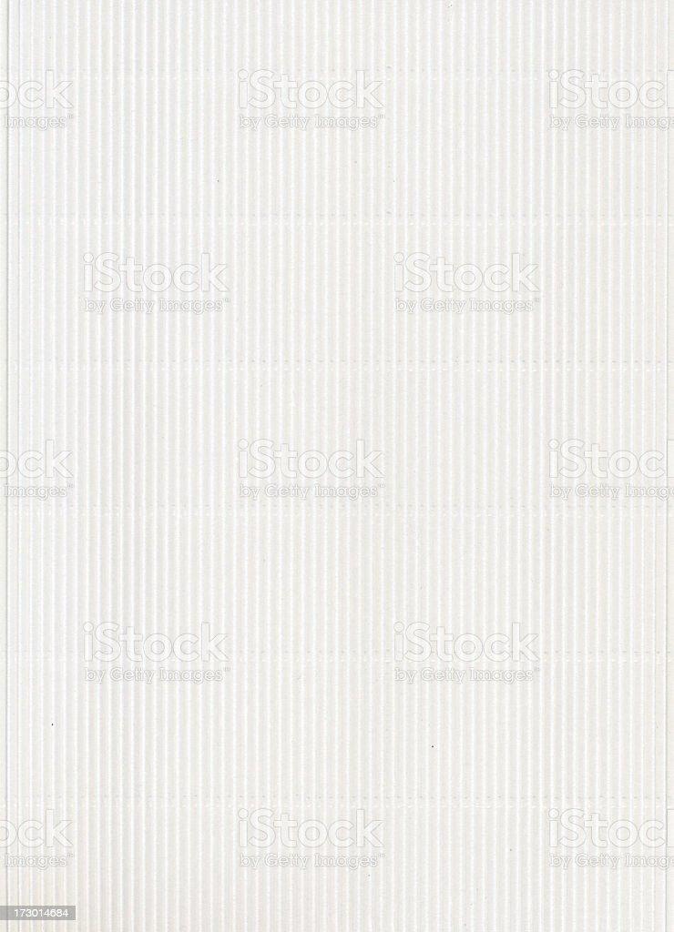 Corrugated white cardboard stock photo