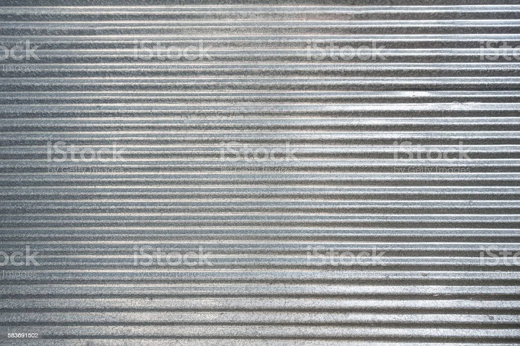 Corrugated zinc texture background - foto de stock