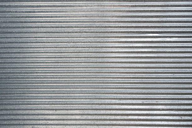 Corrugated zinc texture background – Foto