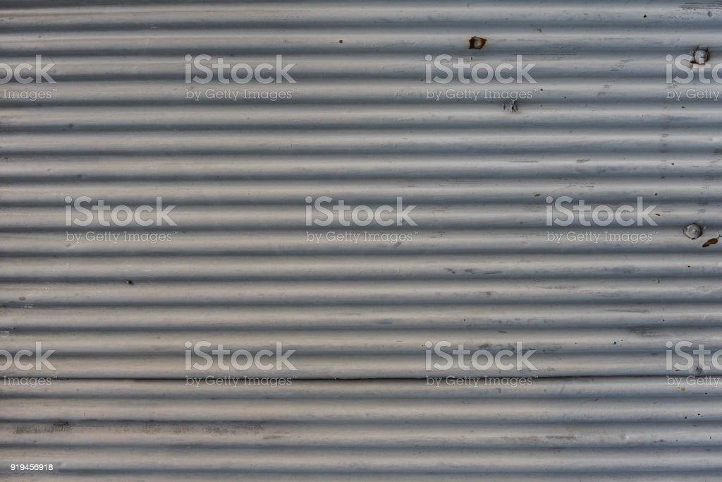 Corrugated zinc texture background stock photo