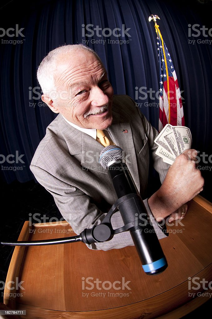 Corrupt Politician royalty-free stock photo