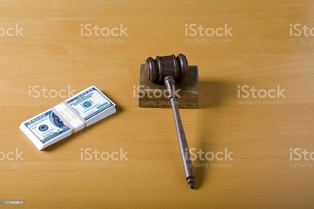 Corrupted system of justice royalty-free stock photo