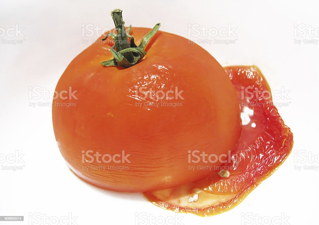 Corrupted tomato royalty-free stock photo