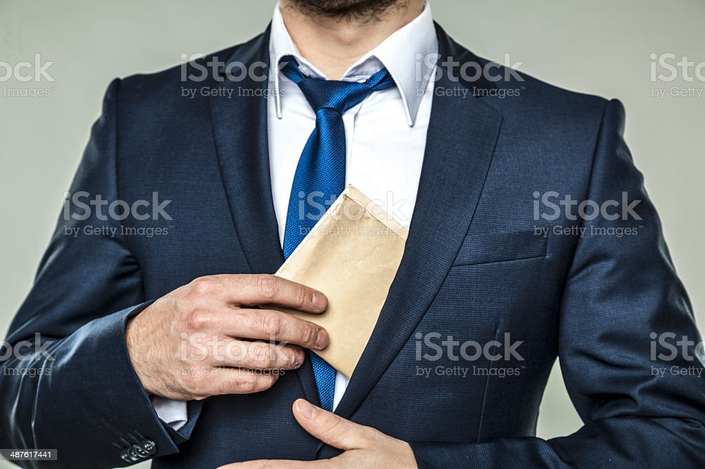 corruption in business stock photo