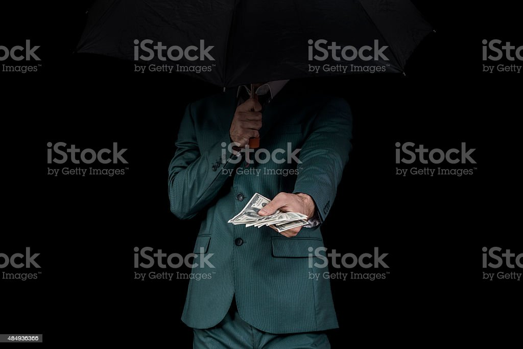 Corruption man stock photo