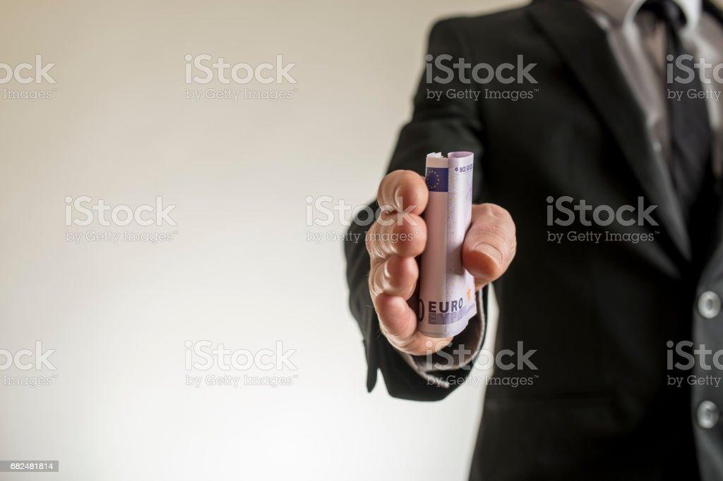 Corruption or bribe foto de stock libre de derechos