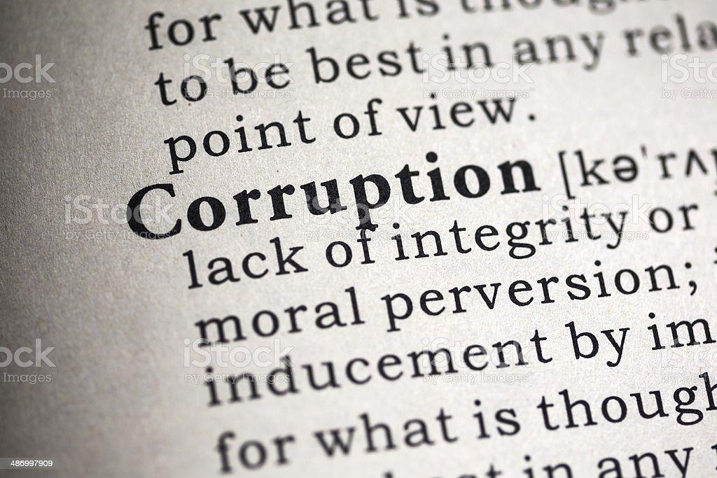 corruption stock photo