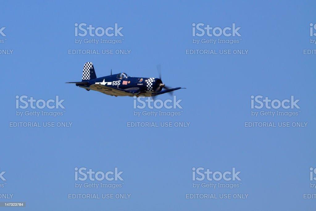 WWII Corsair royalty-free stock photo