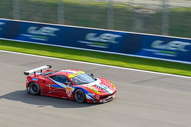 af corse ferrari 458 gte race car - spa belgium stock photos and pictures
