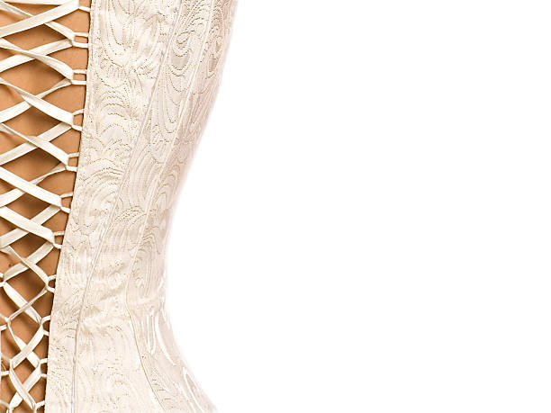 Corset background Half of back side of corset with bond  corset stock pictures, royalty-free photos & images