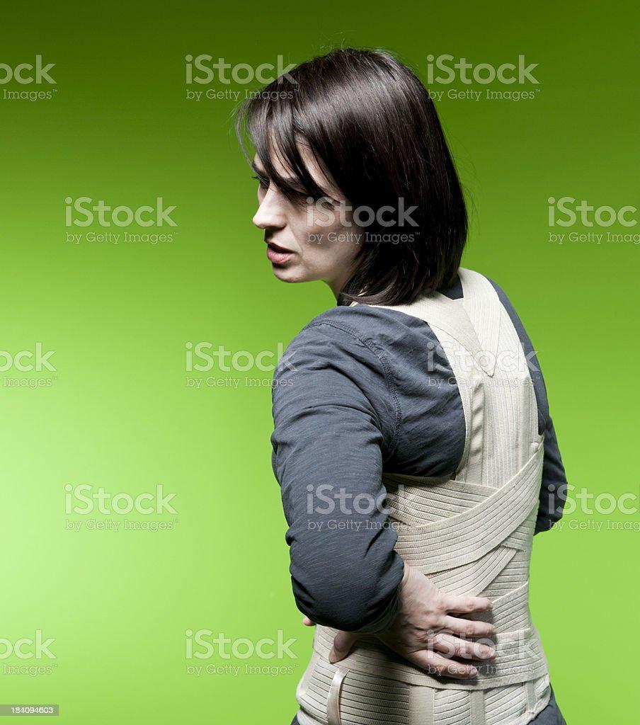 Corset for backache royalty-free stock photo