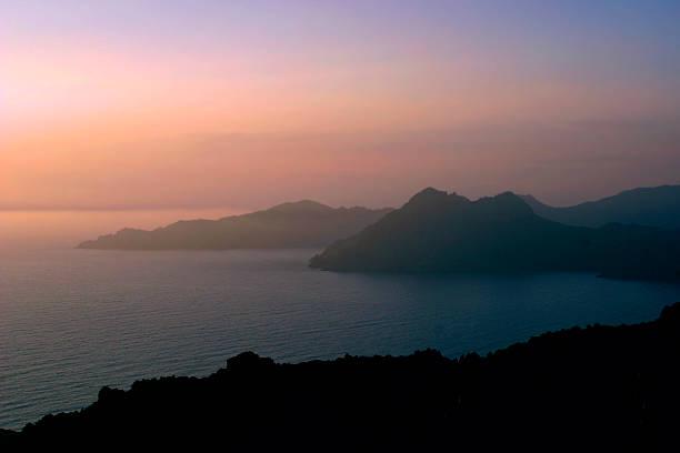 Corsica beach dawn stock photo