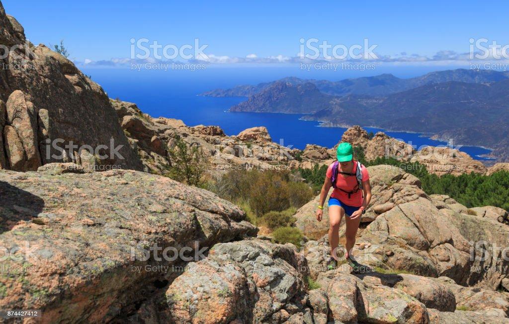 Corsica hike stock photo