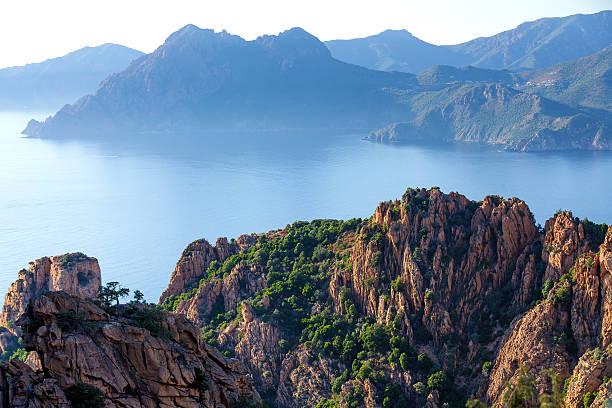 Corsica island sea landscape stock photo