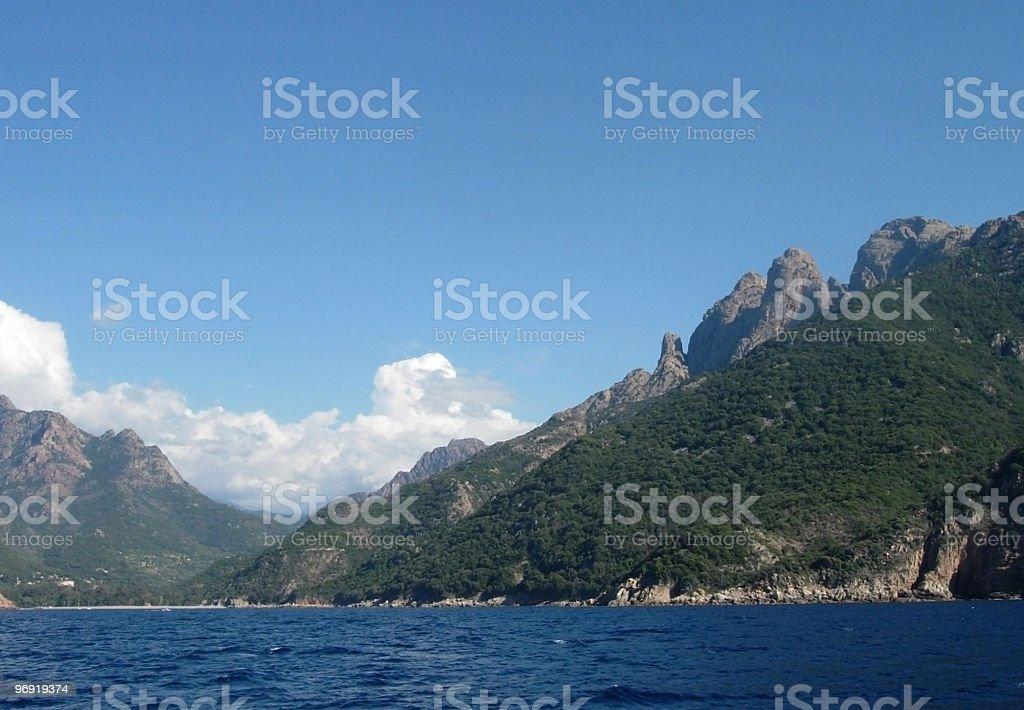 Corsica Scene royalty-free stock photo