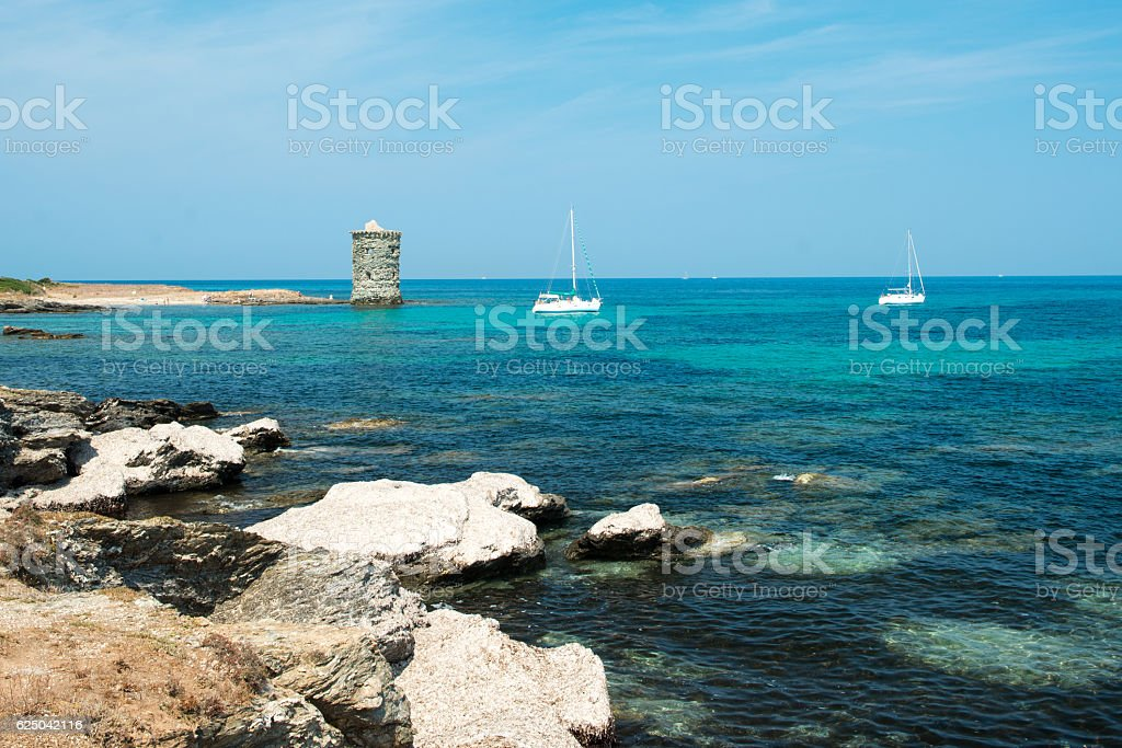 corsica scenery stock photo