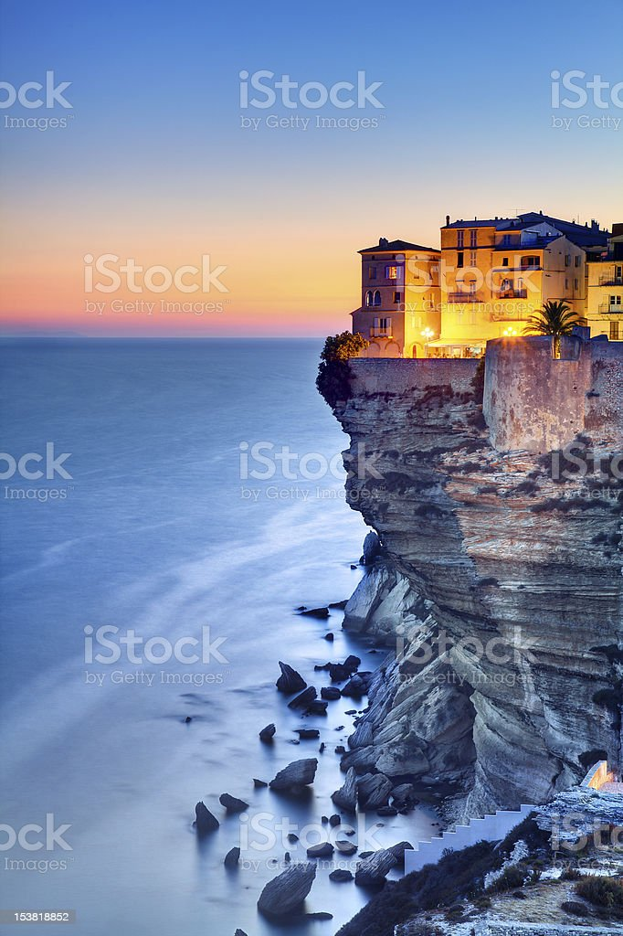 Corsica twilight stock photo
