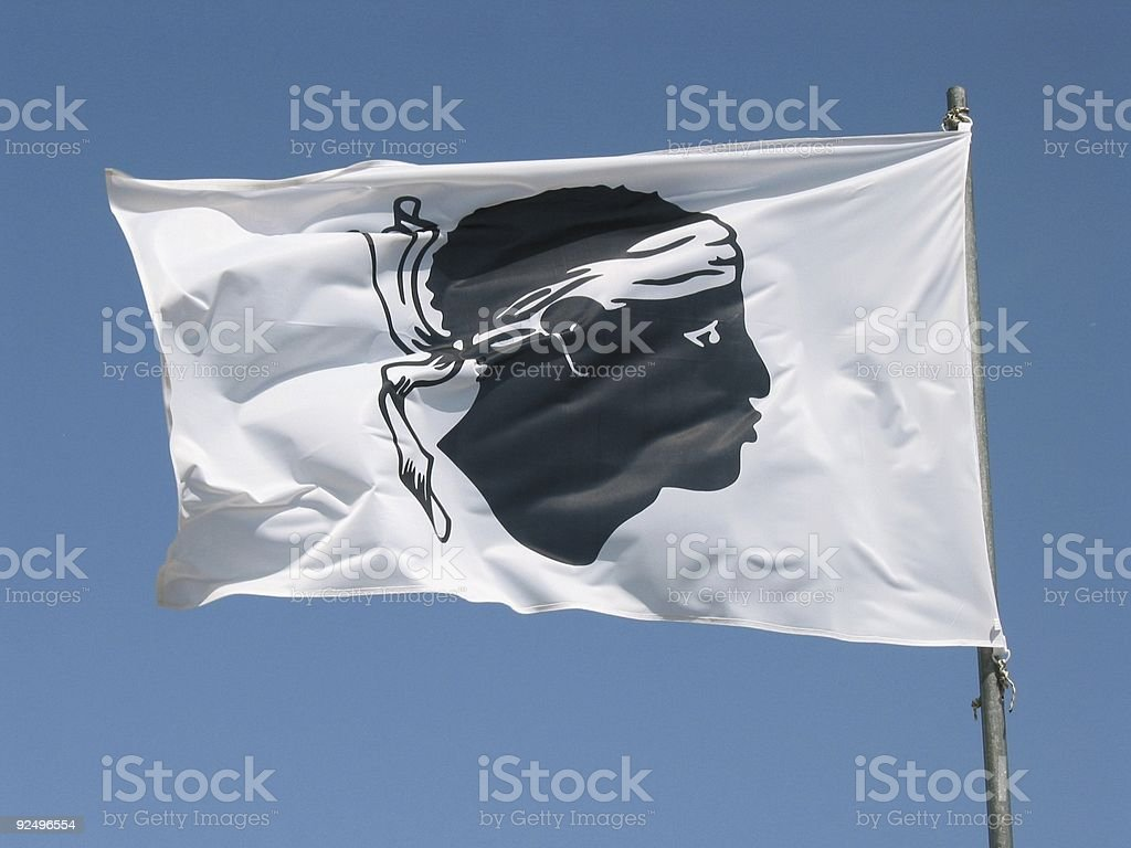 Corsican Flag royalty-free stock photo