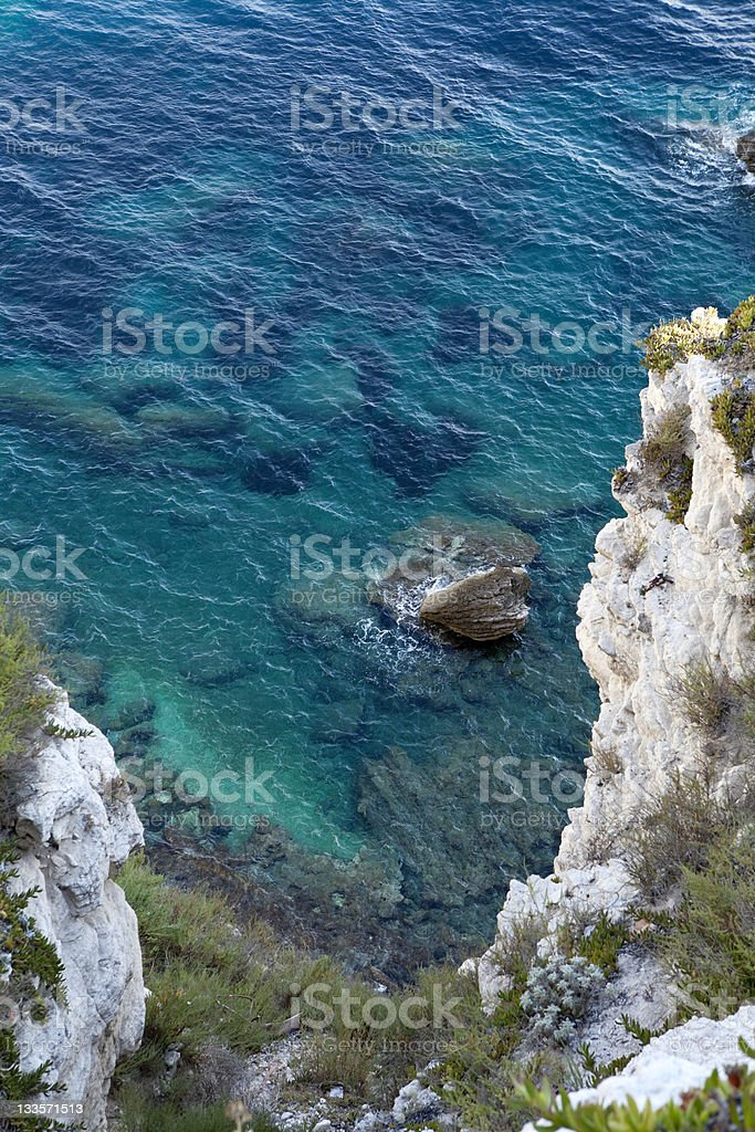 Corsican sea background royalty-free stock photo
