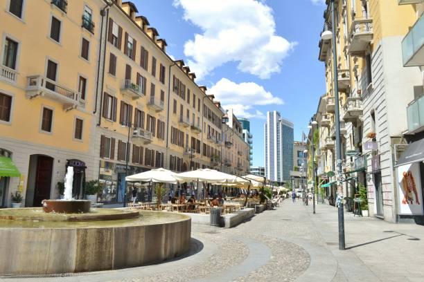 Corso Como fashion street in Milan in a sunny summer day. stock photo