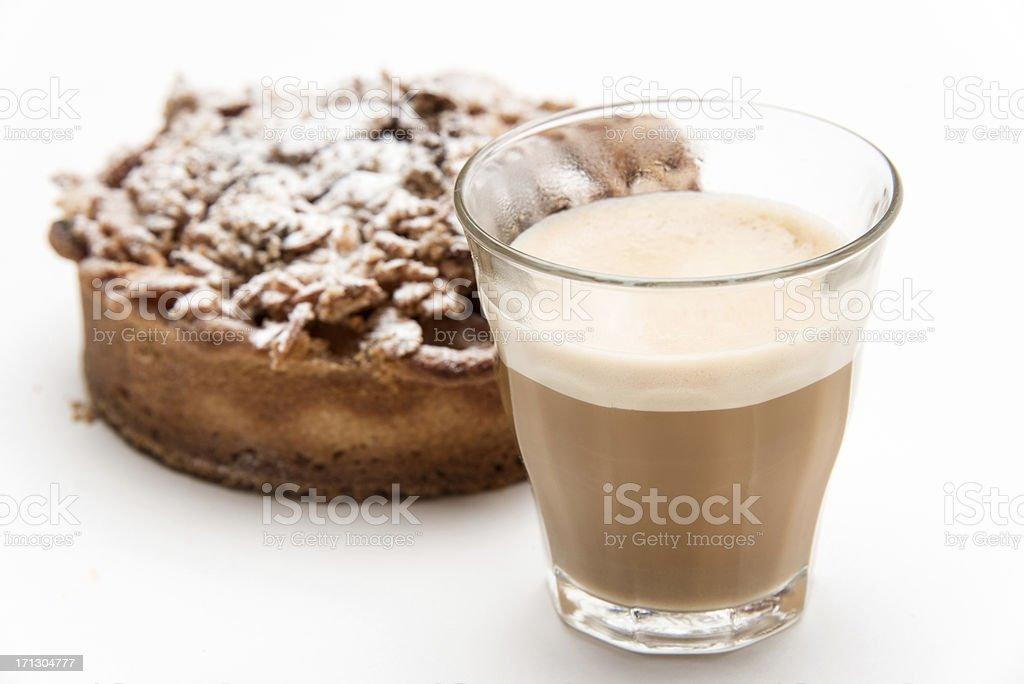 Cortadito (small expresso coffee latte) stock photo