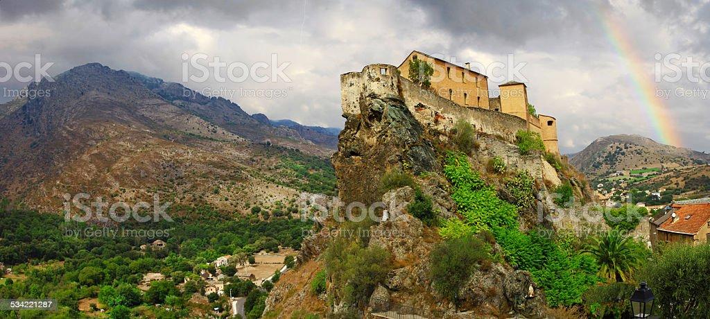 Corte, Corsica. France stock photo