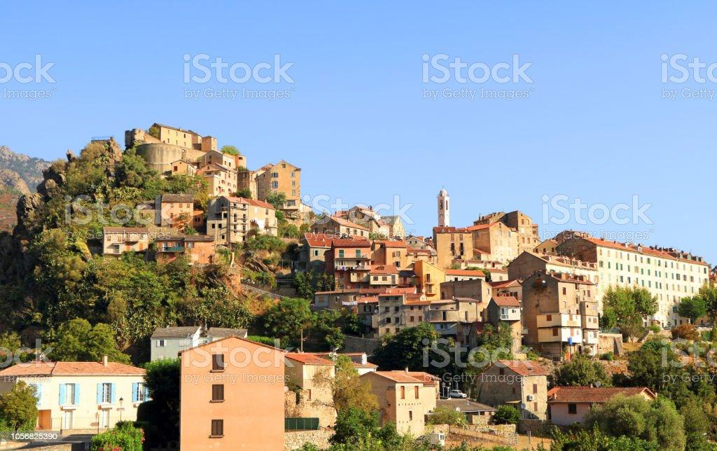 Corte, Corsica stock photo