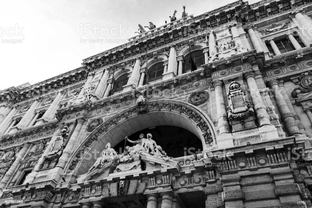 Corte Suprema di Cassazione at Rome, Italy stock photo